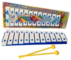 Diatonic glockenspiel 12 tone with notes (blister package)