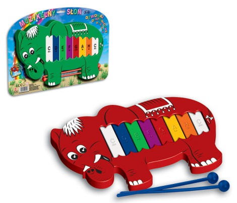 Musical elephant diatonic glockenspiel 8 tone (blister pacкage)