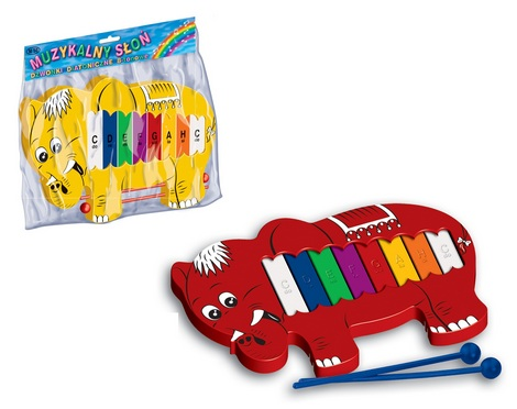 Musical elephant diatonic glockenspiel 8 tone in a bag